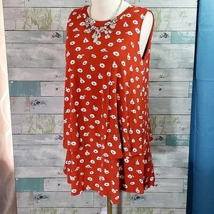 Large Sleeveless Tiered Tunic by A&D